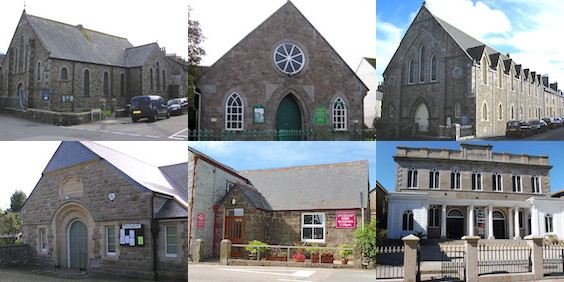 Montage of MAP church buildings